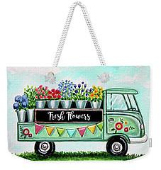 The Floral Truck Weekender Tote Bag