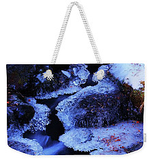 The Flow Of Winter Weekender Tote Bag by Sean Sarsfield