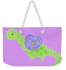 The Flower Dinosaur  Weekender Tote Bag