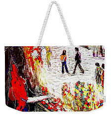 The Flower Vendor In Front Of The Temple Gate Weekender Tote Bag