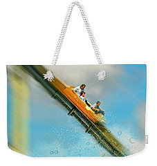 Weekender Tote Bag featuring the photograph The Flume by Diana Angstadt