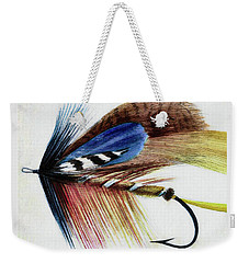 Weekender Tote Bag featuring the digital art The Fly by Steve Taylor