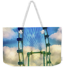 Weekender Tote Bag featuring the photograph The Flyer by Joseph Hollingsworth