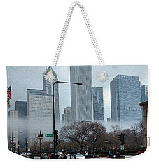 The Fog Lifts On Michigan Avenue Weekender Tote Bag