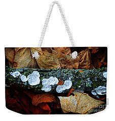 Weekender Tote Bag featuring the photograph The Forest Floor - Cascade Wi by Mary Machare