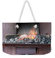 Weekender Tote Bag featuring the photograph The Forge by Linda Lees