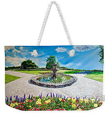 Gushing Fountain Weekender Tote Bag