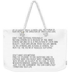 The Four Agreements 5 Weekender Tote Bag