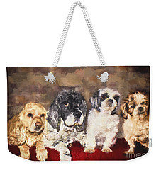 The Four Amigos Weekender Tote Bag by Janice Rae Pariza