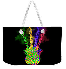 Weekender Tote Bag featuring the digital art The Four Guitars by Guitar Wacky