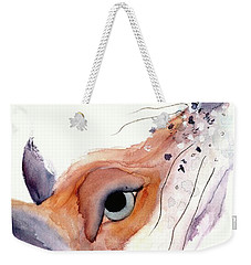 Weekender Tote Bag featuring the painting The Fox by Dawn Derman