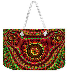 The Fractal Beast Weekender Tote Bag by Thibault Toussaint