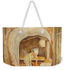 Weekender Tote Bag featuring the painting The French Baker by Vicki  Housel