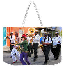 The French Quarter Shuffle Weekender Tote Bag by Dominic Piperata
