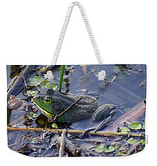The Frog Remains Weekender Tote Bag