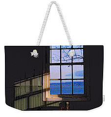 Weekender Tote Bag featuring the digital art The View From Inside by I'ina Van Lawick