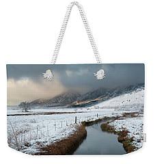The Front Weekender Tote Bag by Scott Warner