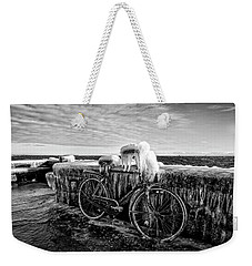 The Frozen Bike Weekender Tote Bag
