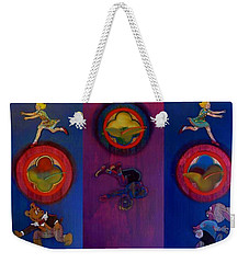 Weekender Tote Bag featuring the painting The Fruit Machine Stops II by Charles Stuart