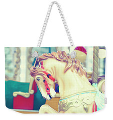 The Galloper - Paris Carousel Print Weekender Tote Bag by Melanie Alexandra Price
