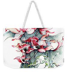 Weekender Tote Bag featuring the painting The Gateway To Imagination by Anna Ewa Miarczynska