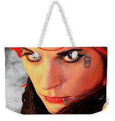 The Gaze Of Steam Punk Vixen Weekender Tote Bag