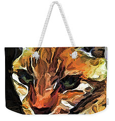 The Gaze Of The Gold Cat Weekender Tote Bag