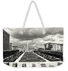 The Geometric Garden In Black And White Weekender Tote Bag