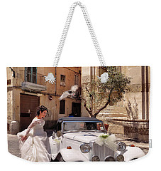 The Runaway Bride.taranto. Italy Weekender Tote Bag