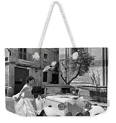The Runway Bride.taranto. Italy.bw Weekender Tote Bag