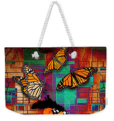Weekender Tote Bag featuring the mixed media The Gift Of Life by Marvin Blaine