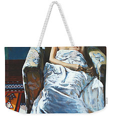 The Girl In The Chair Weekender Tote Bag
