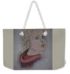 The Girl In The Red Coat Weekender Tote Bag