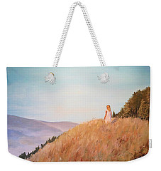 The Girl On The Hill Weekender Tote Bag by Alan Lakin