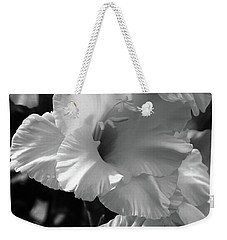 The Gladiolus In Black And White Weekender Tote Bag
