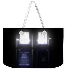 The Glass Police Box Weekender Tote Bag