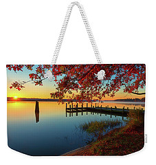 The Glassy Patuxent Weekender Tote Bag
