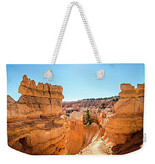 Weekender Tote Bag featuring the photograph The Glowing Canyon by Margaret Pitcher