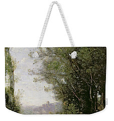 The Goatherd Beside The Water  Weekender Tote Bag by Jean Baptiste Camille Corot