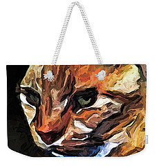 The Gold Cat With The Stage Presence Weekender Tote Bag