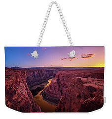 Weekender Tote Bag featuring the photograph The Golden Canyon by Edgars Erglis