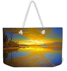 The Golden Clouds Of Winter Weekender Tote Bag