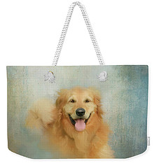 Weekender Tote Bag featuring the mixed media The Golden by Colleen Taylor