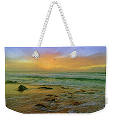 Weekender Tote Bag featuring the photograph The Golden Moments On Molokai by Tara Turner