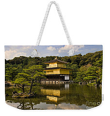 The Golden Pagoda In Kyoto Japan Weekender Tote Bag