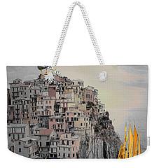 The Golden Sails Weekender Tote Bag by Mojo Mendiola