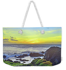Weekender Tote Bag featuring the photograph The Golden Skies Of Molokai by Tara Turner