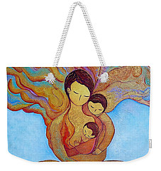 Weekender Tote Bag featuring the painting The Golden Tree Of Life by Gioia Albano