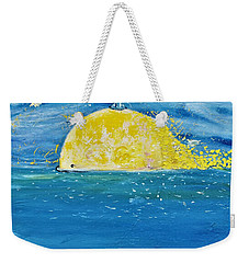 The Golden Whale Weekender Tote Bag