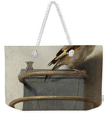 The Goldfinch, 1654  Weekender Tote Bag by Carel Fabritius